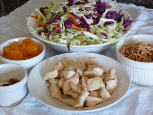 Oriental Chicken Salad toppings