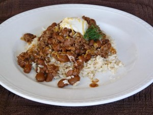 Spicy Chili Beans and Rice