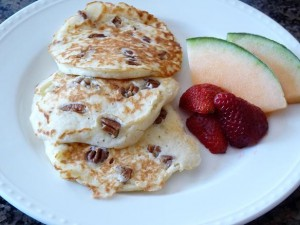 Pecan Sour Cream Buttermilk pancakes