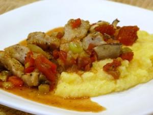 Pork with polenta