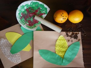 Fall harvest Crafts Preshcool lesson
