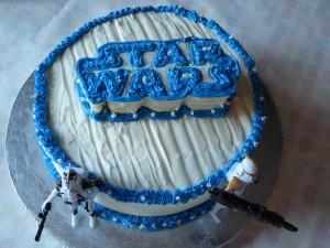 White 2-layer Birthday Cake