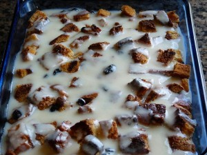 Classic Bread Pudding with Sauce