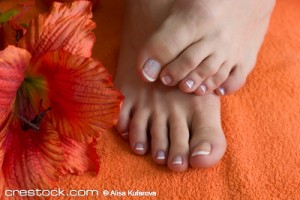 foot with pedicure