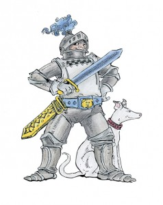 knight-with-dog-clipart